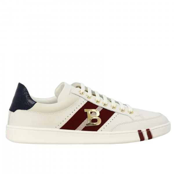 Wilsy Bally sneakers in suede leather and canvas with metallic logo