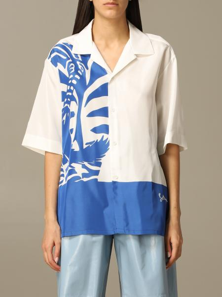 Bottega Veneta shirt in silk with zebra print