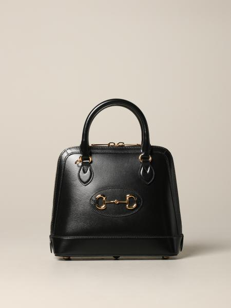 Gucci Horsebit 1955 leather bag with metal clamp