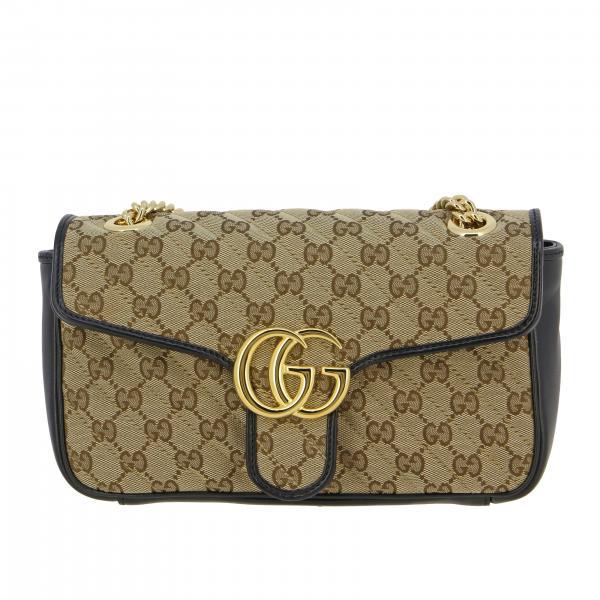 Borsa Gucci GG Marmont 2.0 small in tela e pelle