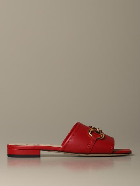 Sandalo Deva Gucci in pelle con morsetto