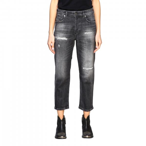 Jeans D-aryel Diesel a trombetta con rotture