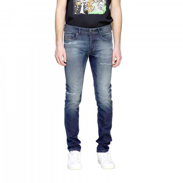 Diesel Sleenker-x Jeans aus regulärem Stretch-Denim