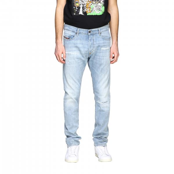 Diesel Tepphar-x Jeans aus Used Stretch-Denim mit normaler Taille