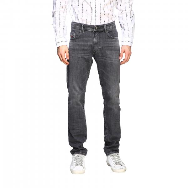 Jeans Thommer-x Diesel in denim stretch used a vita regolare