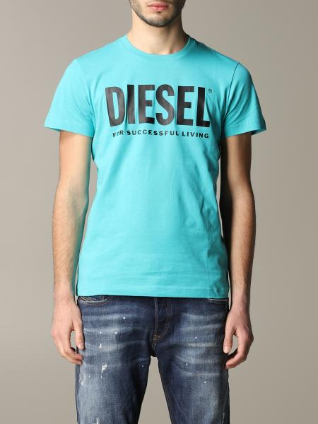 T-shirt Diesel a girocollo con stampa logo