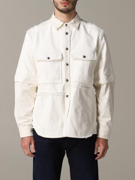 Camicia Diesel in cotone con maniche amovibili