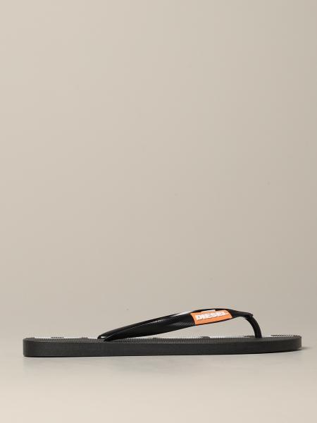Sandales tong en caoutchouc Diesel avec logo