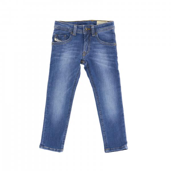 Diesel slim fit jeans in used denim