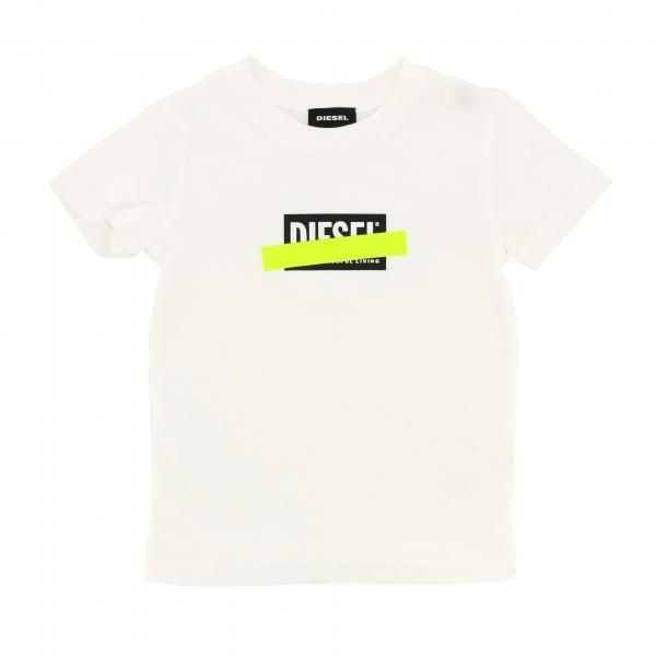 Diesel T-Shirt mit fluoreszierendem Logo