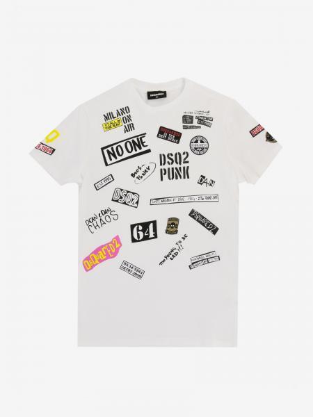 Dsquared2 Junior 印花补丁装饰T恤