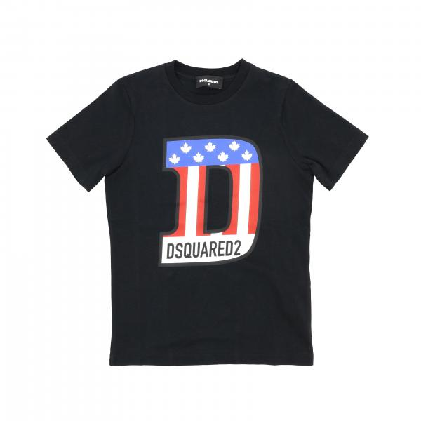 Dsquared2 Junior short-sleeved T-shirt with logo print