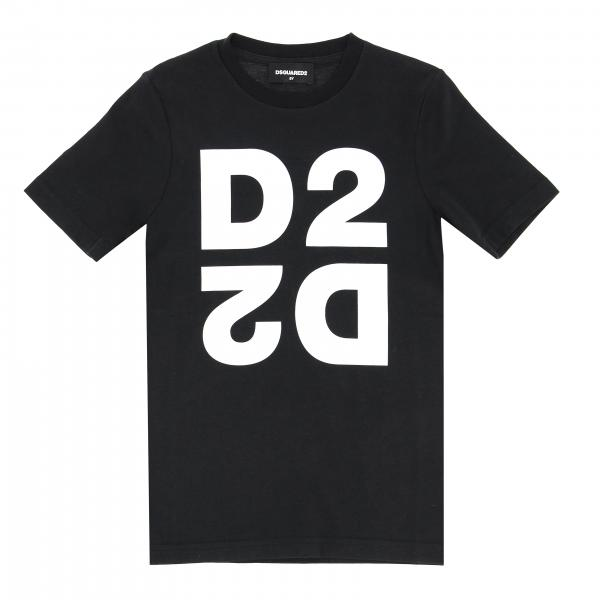 Dsquared2 Junior logo印花短袖T恤