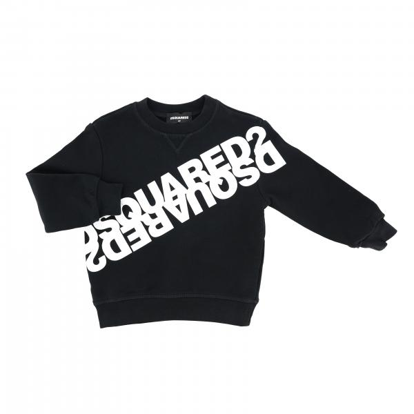 Felpa Dsquared2 Junior a girocollo con logo