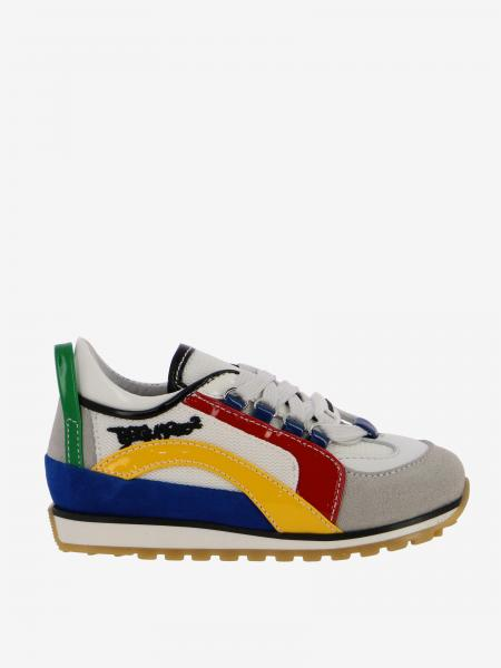 Dsquared2 Junior sneakers in leather and suede