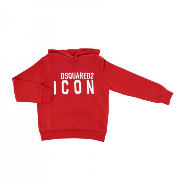 Dsquared2 Junior logo印花连帽卫衣