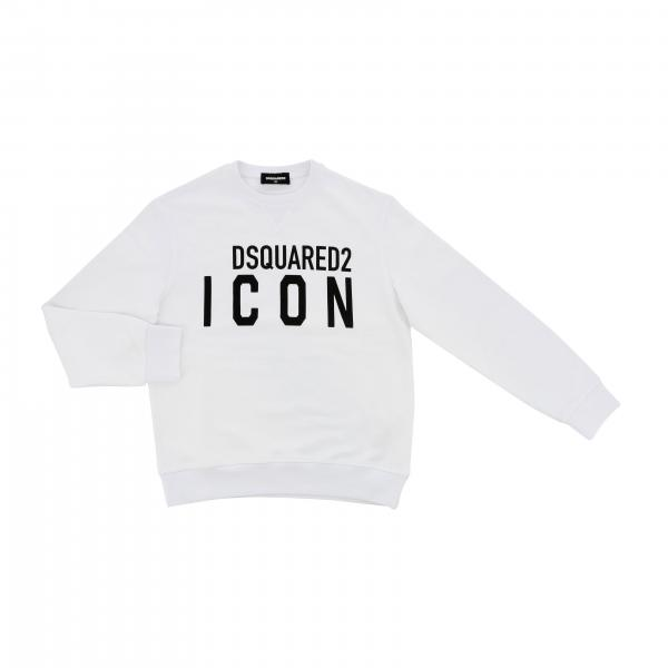Dsquared2 Junior Icon logo印花圆领卫衣
