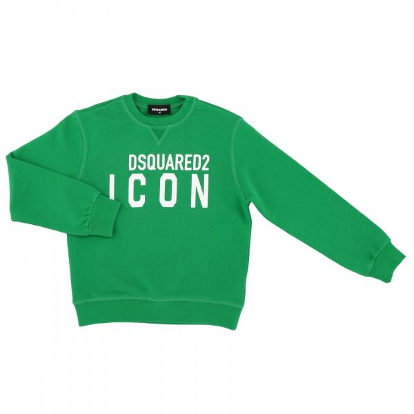 Felpa Dsquared2 Junior a girocollo con logo Icon