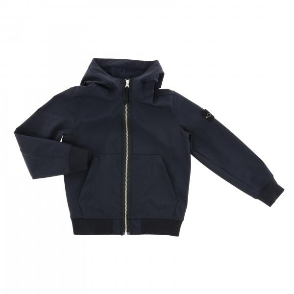 Sweat à capuche Soft shell Stone Island Junior avec capuche