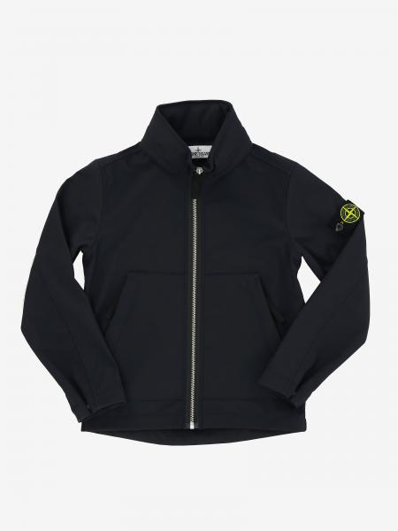 Stone Island Junior soft shell jacket with removable hood
