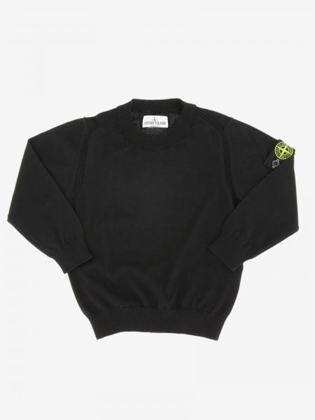 Stone Island Junior crewneck sweater in cotton with logo