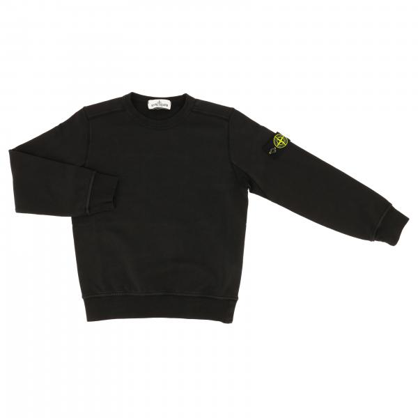 Stone Island Junior crewneck sweater in cotton with logo