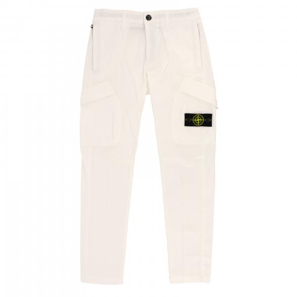 Stone Island Junior Hose aus Stretch Baumwolle