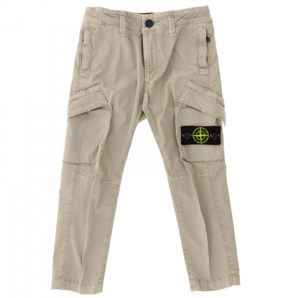 Pantalone Stone Island Junior Kargo in tela di cotone stretch