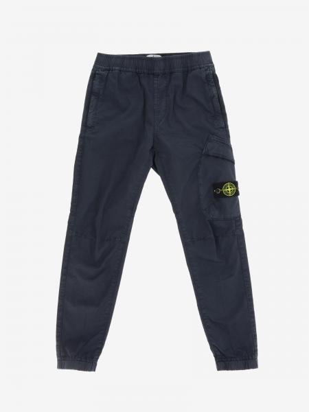 Stone Island Junior trousers in stretch cotton canvas