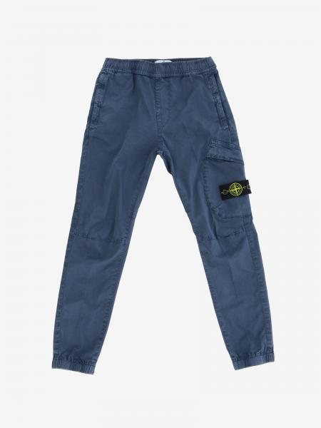 Pantalone Stone Island Junior in tela di cotone stretch