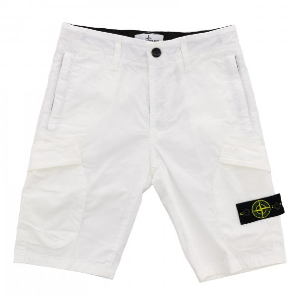 Short Stone Island Junior avec logo