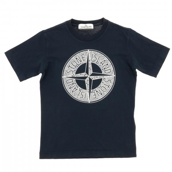 T-shirt Stone Island Junior à manches courtes et logo