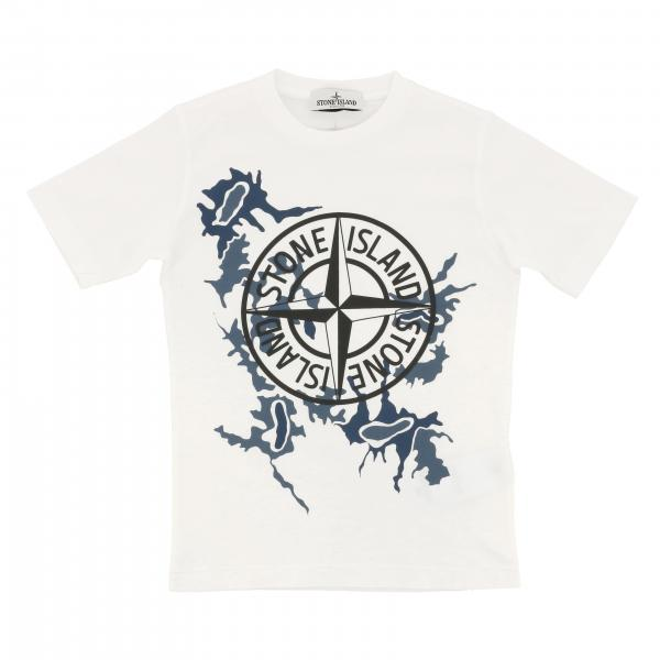 Stone Island Junior T-Shirt mit Aufdruck