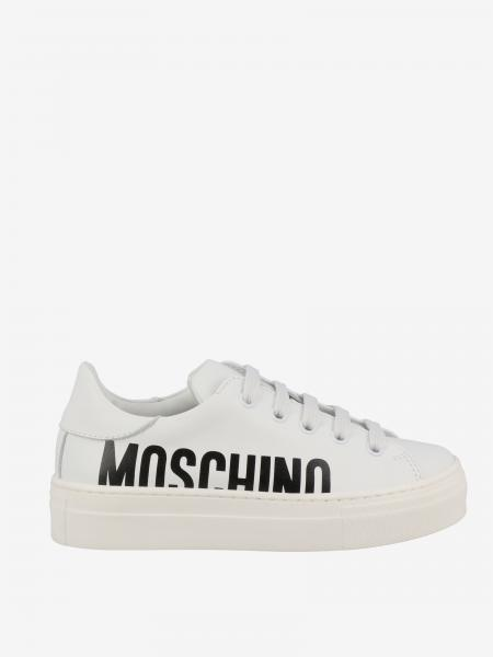 Sneakers Moschino Teen in pelle con logo
