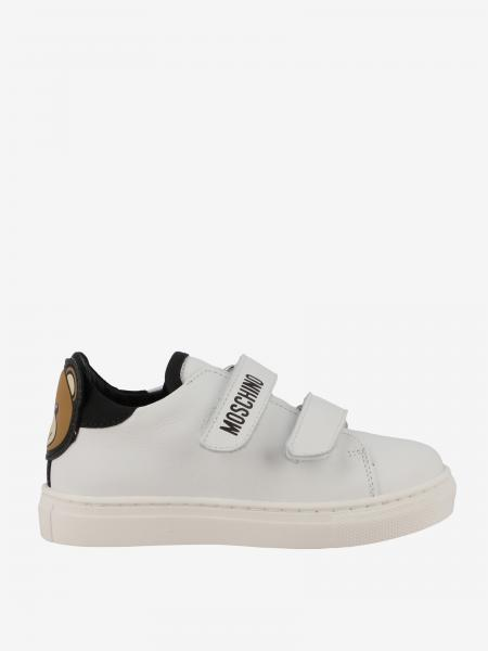 Sneakers Moschino Baby in pelle con Teddy