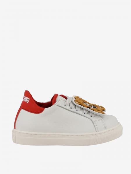 Sneakers Moschino Baby in pelle con patch Teddy