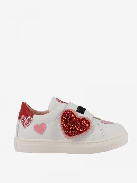 Sneakers Moschino Baby in pelle con cuori