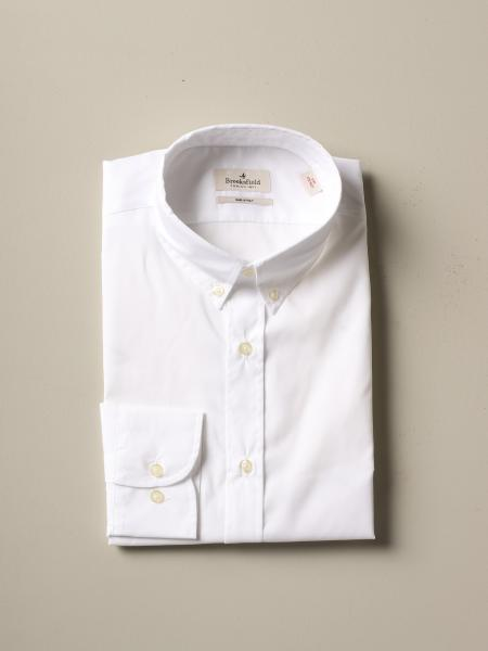 Brooksfield shirt in stretch poplin