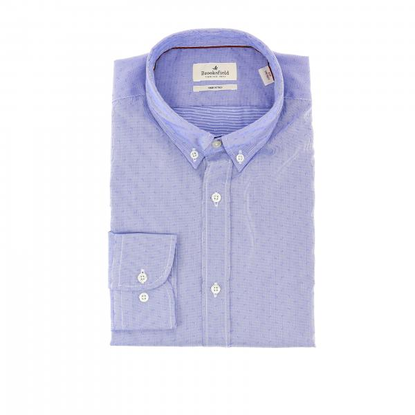 Camicia Brooksfield in cotone operato no iron