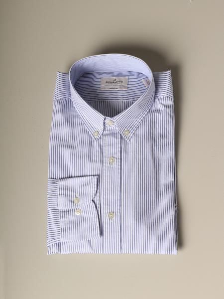 Camicia Brooksfield slim in popeline a righe