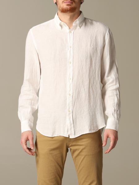 Brooksfield slim linen shirt