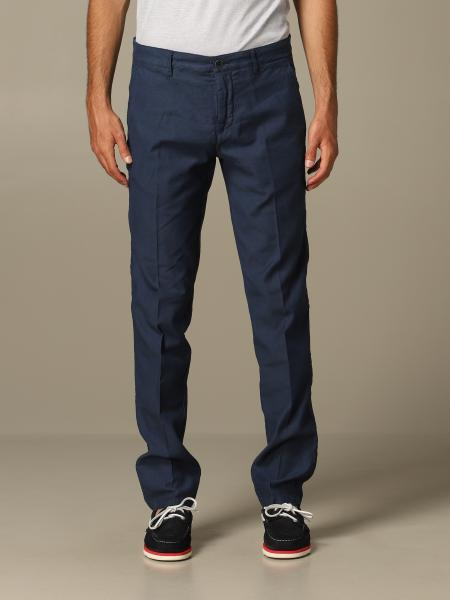 Pantalone chino Brooksfield in misto lino