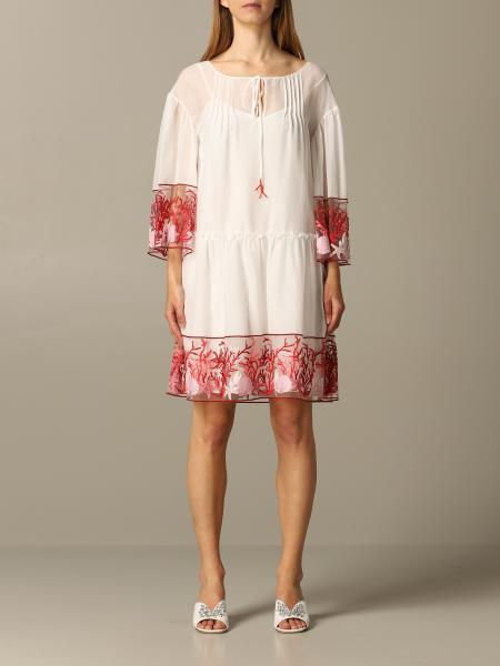 Robe en popeline Blumarine avec coraux