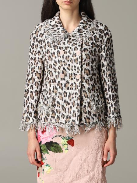 Blumarine jacket in lurex animalier mat