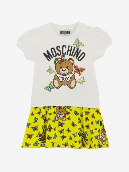 Abito Moschino Baby con stampa Teddy Moschino
