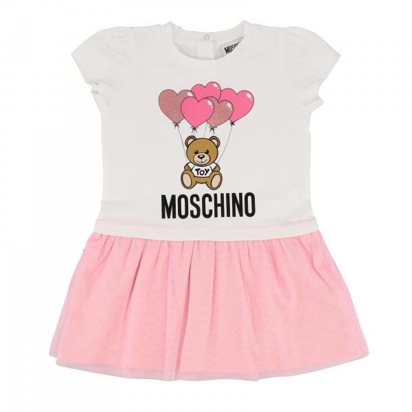 Abito Moschino Baby con stampa teddy