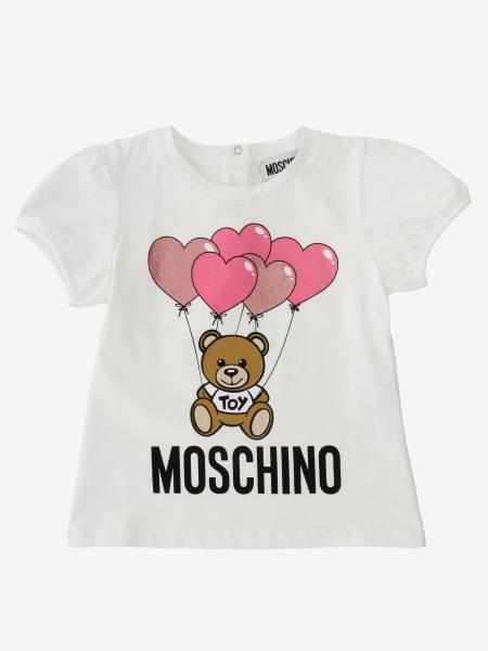 Moschino Baby short-sleeved T-shirt with teddy print