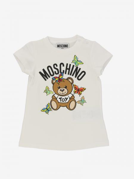 Moschino Baby 泰迪熊蝴蝶印花T恤