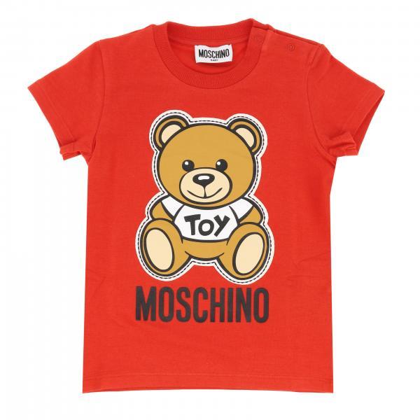 T-shirt Moschino Baby a maniche corte con stampa teddy