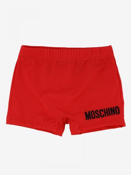 Moschino Baby 泰迪熊logo 泳裤